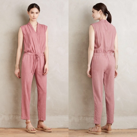 2e279ee8e4b Anthropologie Pants -  Anthro  Cloth   Stone Mignon Crossfront Jumpsuit